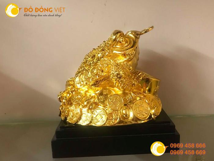 Tượng cóc đồng,cóc mạ vàng,cóc phong thủy 20cm đẹp3