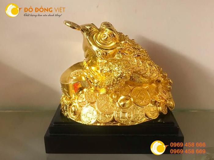 Tượng cóc đồng,cóc mạ vàng,cóc phong thủy 20cm đẹp2