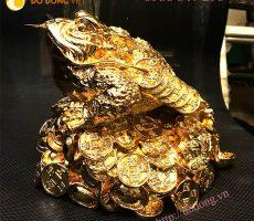 Tượng cóc đồng,cóc mạ vàng,cóc phong thủy 20cm đẹp