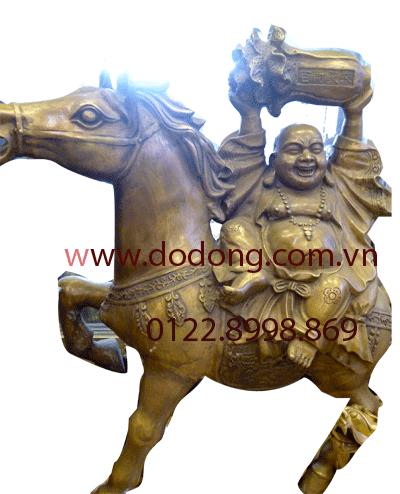 tượng di lặc cưỡi ngựa bằng đồng