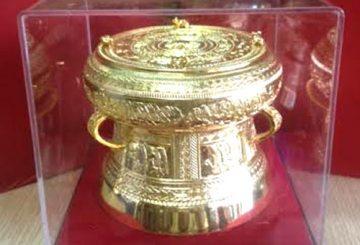 Trống đồng mạ vàng dk 7,8,9,10,12,15cm – quà tặng cao cấp