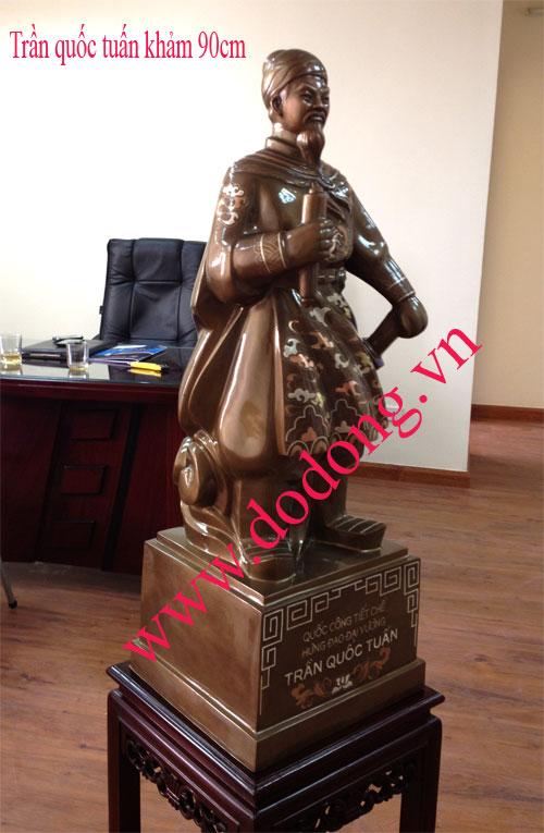 Tượng đồng cao 90cm Trần quốc tuấn