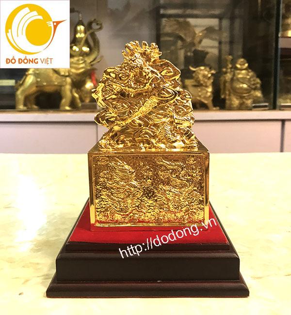 ấn quan lộc bằng đồng mạ vàng 9999 17cm3