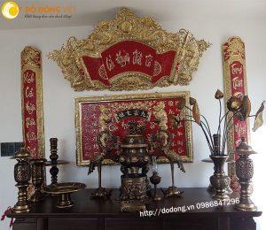Bộ đồ thờ bằng đồng bày bàn thờ cửu huyền thất tổ