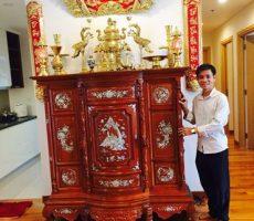 Bộ đồ thờ cúng trên bàn thờ gia tiên đẹp – BTGT01