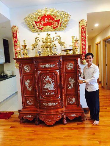 Bộ đồ thờ cúng trên bàn thờ gia tiên đẹp – BTGT010