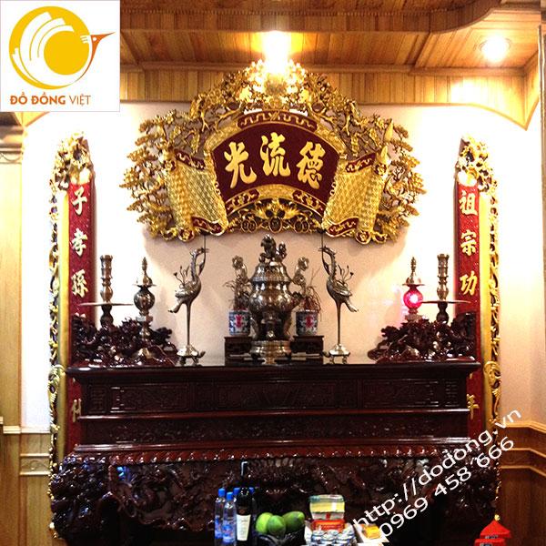 Bộ đỉnh đồng ngũ sắc 60cm trang trí bàn thờ gia tiên0