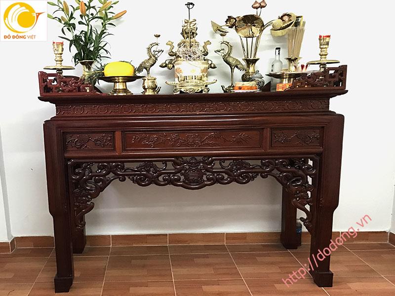 Trang trí bàn thờ gia tiên,các vật dụng bày trên bàn thờ0
