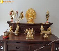 Bộ đồ thờ cúng trên bàn thờ phật ý nghĩa