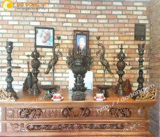 Bộ đỉnh thờ cúng dapha hun màu cao 61cm bền đẹp