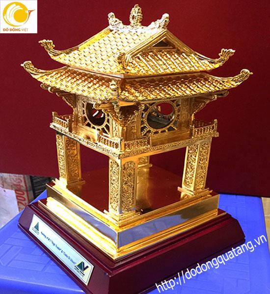 Tượng đồng Quốc tử giám Hà nội cao 27cm mạ vàng 24k0