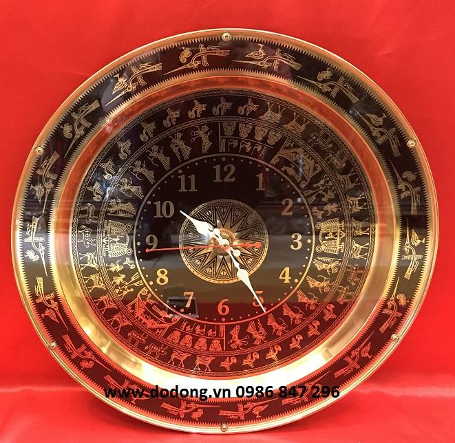 Mặt trống đồng hồ khắc tinh xảo dk 40cm