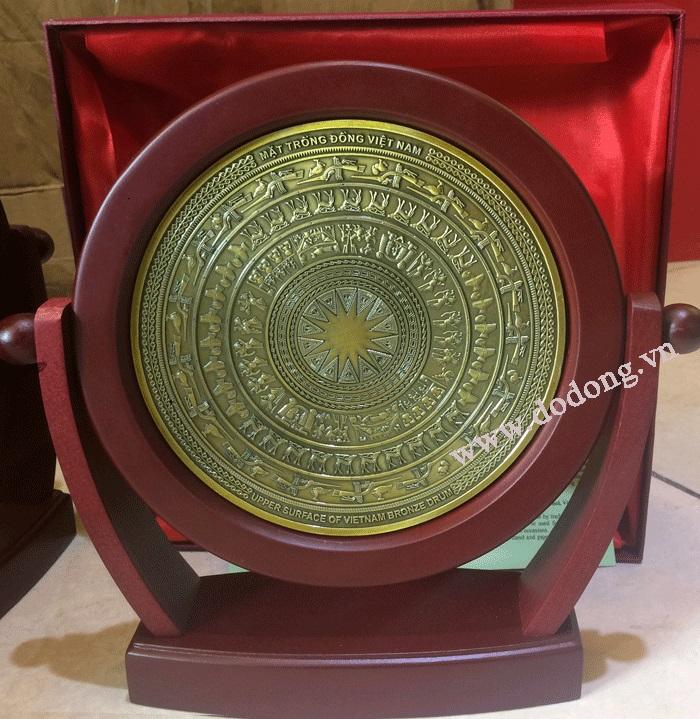 Đĩa trống đồng cổ lưu niệm làm quà tặng văn hóa0