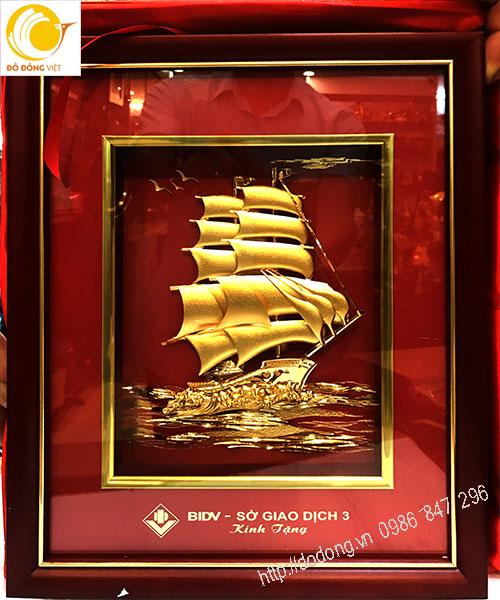 Tranh vàng lá 3d thuận buồm xuôi gió làm quà tặng