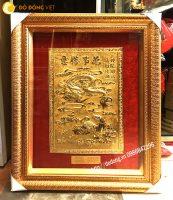 Tranh long mã bằng đồng mạ vàng phong thủy