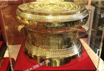 Bán trống đồng mạ vàng để bàn làm việc tại Hà nội