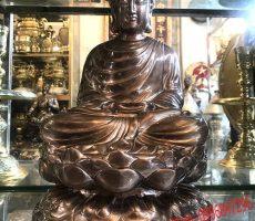 Tượng đồng Phật thích ca mâu ni 45cm mẫu chuẩn