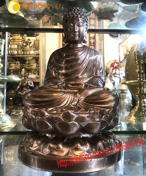 Tượng đồng Phật thích ca mâu ni 45cm mẫu chuẩn0