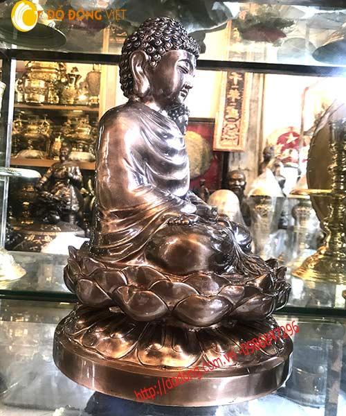 Tượng đồng Phật thích ca mâu ni 45cm mẫu chuẩn3