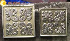Gạch đồng thau trang trí hoa văn nổi 10cm,12cm