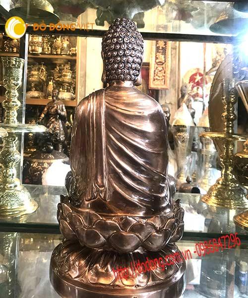 Tượng đồng Phật thích ca mâu ni 45cm mẫu chuẩn4