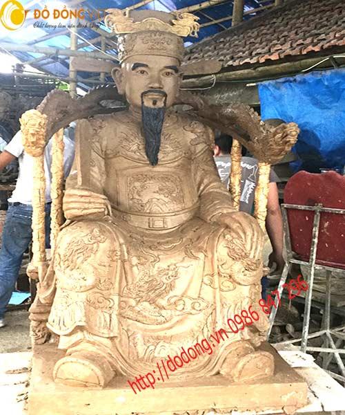 Tạo mẫu và đúc tượng đồng Thái sư Trần thủ độ 137cm0