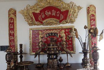 Bộ đồ thờ cúng bằng đồng chuẩn và đầy đủ gồm những gì?