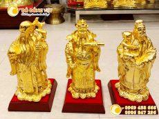 Tượng tam đa, tượng 3 ông tam đa bằng đồng mạ vàng