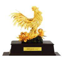 Tượng gà dát vàng lá 9999