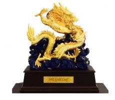 Linh vật rồng phong thủy dát vàng lá 9999