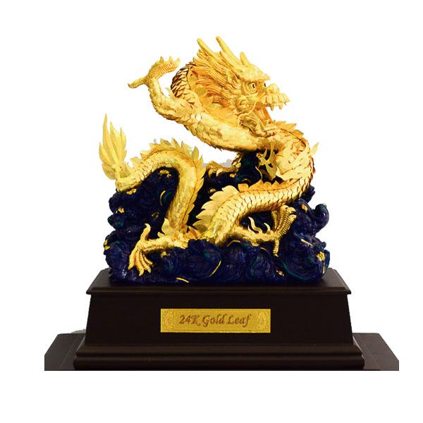 Linh vật rồng phong thủy dát vàng lá 99990