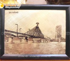 Tranh đồng Cầu Sông Hàn