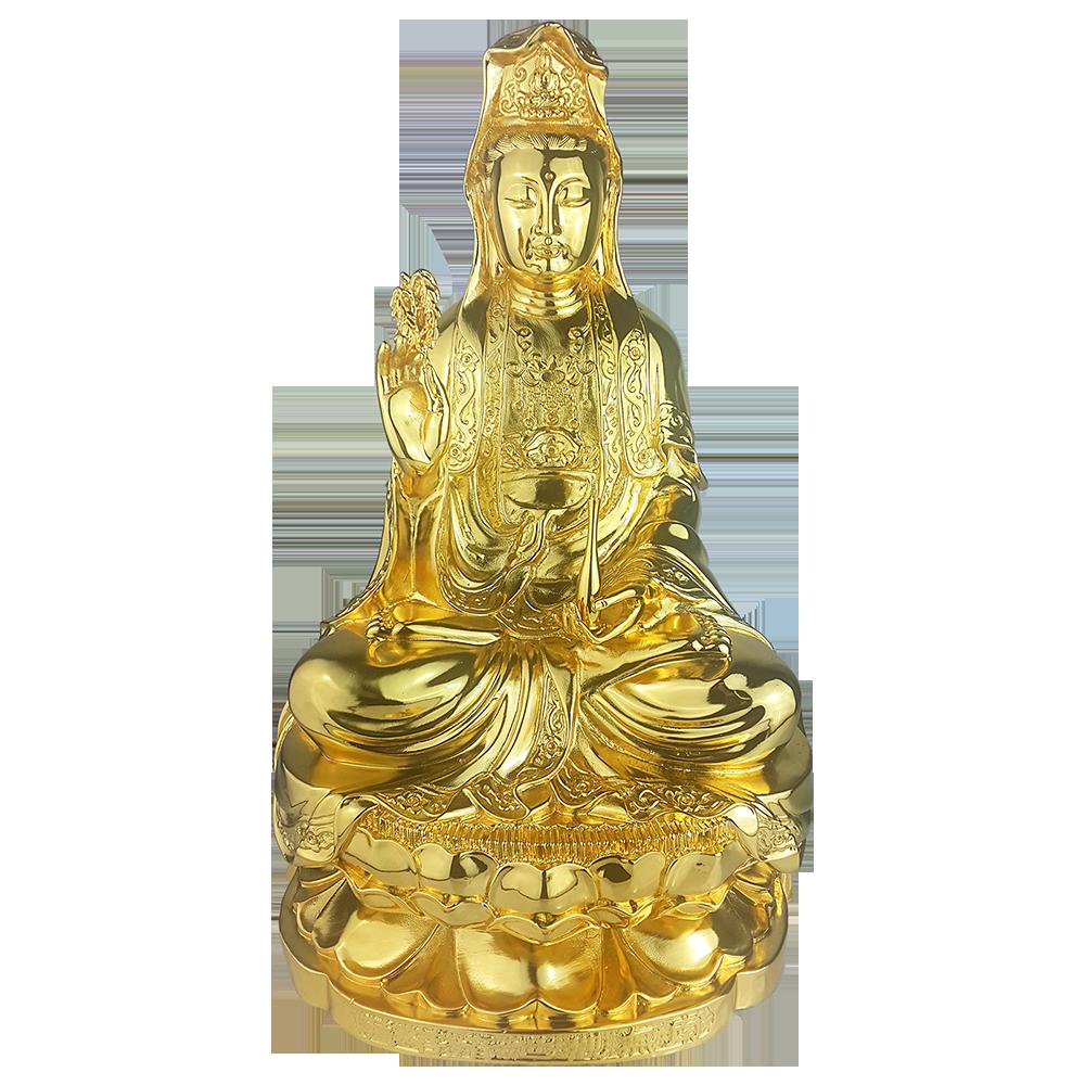Tượng Phật Quan Thế Âm dát vàng0