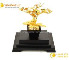 Cây hoa lan bằng vàng lá 24k