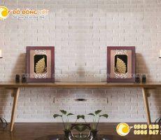 Tranh chim công bằng vàng lá 3d- quà cưới ý nghĩa