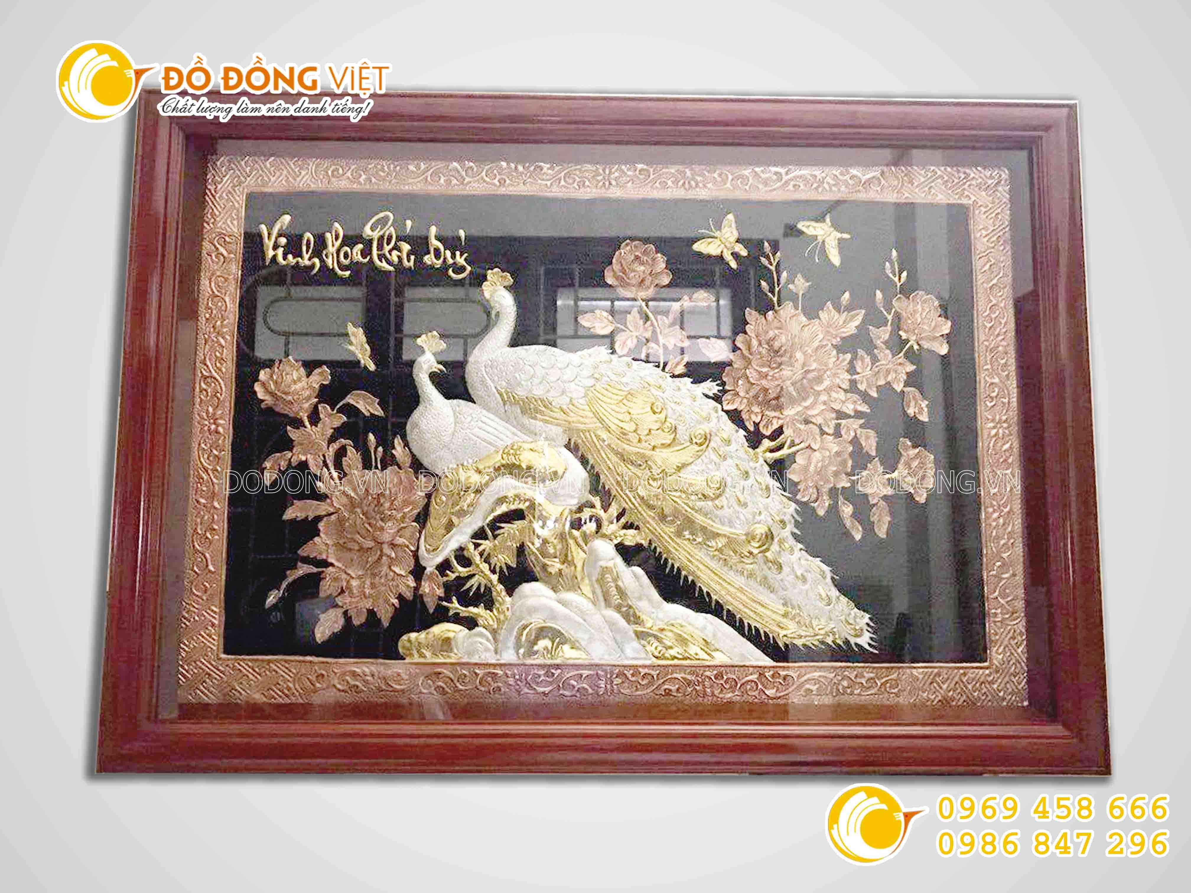 Tranh đồng Vinh hoa phú quý- quà tặng tranh đồng cao cấp0