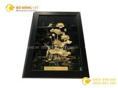 Tranh hồ sen vàng 27 x 34 cm