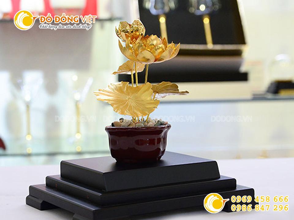 Biểu tượng cây hoa sen bằng vàng0