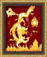 Treo tranh rồng dát vàng 24k
