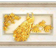 Tranh phú quý ngọc đường dát vàng 60×120 cm