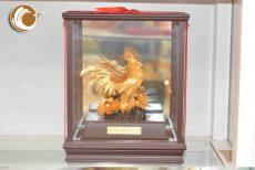 Gà trống dát vàng 24k- linh vật phong thủy dát vàng