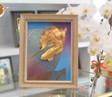 Tranh vàng 24k tranh cá vàng, quà tặng vợ ý nghĩa