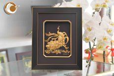 Tranh Chim Công Dát Vàng- Quà Tặng 20-10