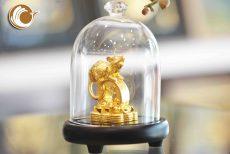 Tượng chuột bằng đồng mạ vàng, chuột đồng làm quà tặng phong thủy