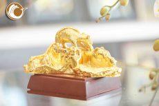 Gạt tàn thuốc mạ vàng 24k, giá bán gàn tàn chuột mạ vàng