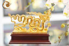 Quà tặng phong thủy- biểu tượng rồng thời Lý mạ vàng đẹp tinh xảo