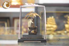 Cây kim ngân bằng vàng lá 24k, quà tặng cây phong thủy dát vàng