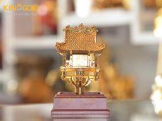 Giá bán quà tặng chùa Một Cột mạ vàng 24 đẹp tinh xảo
