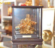 Tượng văn thù bồ tát mạ vàng 24k- tượng đồng tâm linh