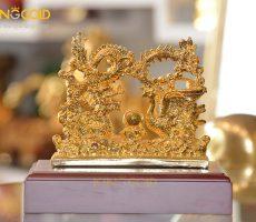 Tượng rồng phượng bằng đồng mạ vàng làm quà cưới ý nghĩa